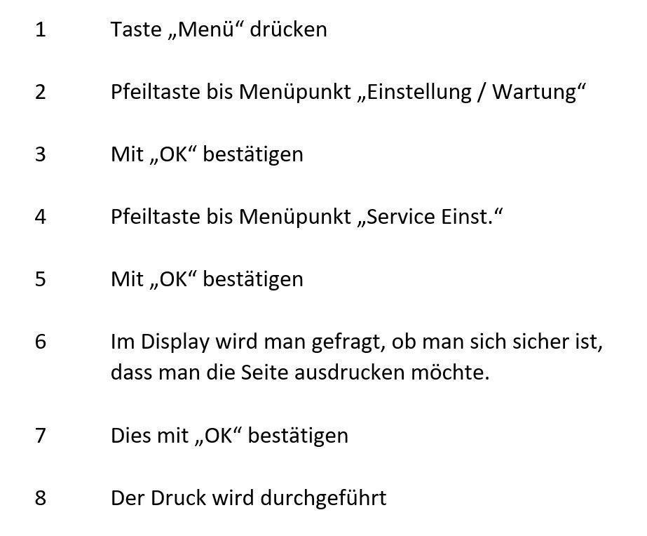 SSS ueber Service-Einstellungen